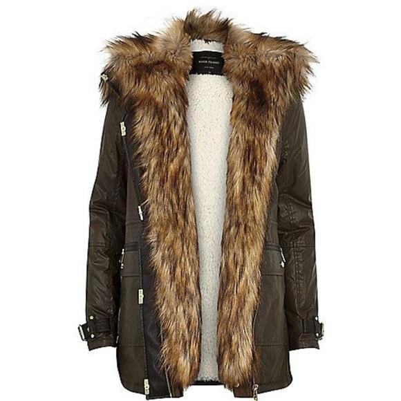 Fur Trim Parka Jacket